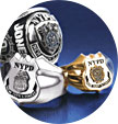 Jostens NYPD custom jewelry