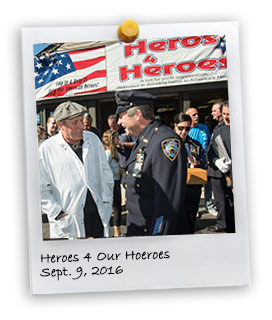 """Heroes 4 Our Heroes"" police supporter"
