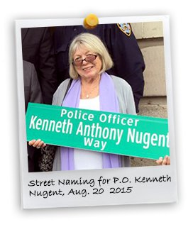 Street Naming for PO Kenneth Nugent (8/20/2015)