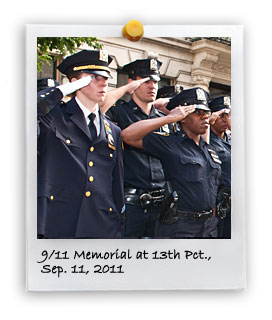 10th Anniversary of the 9-11 Attacks at 13 Pct. (9/11/2011)