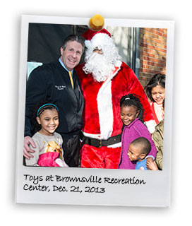 Holiday Gifts at Brownsville Recreation Center. 2013