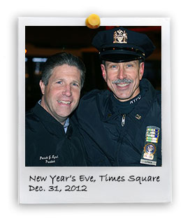 PBA board members join New Years Eve detail in Times Square (12/31/2012)