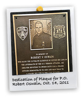 Dedication of Plaque for PO Oswain (10/14/2011)