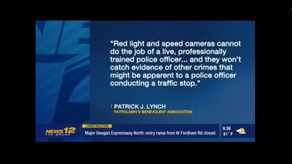 NYC PBA - Lynch: Speed cameras can't do the job of